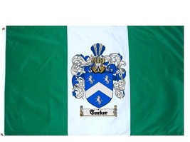 Tucker Coat of Arms Flag / Family Crest Flag - $29.99