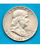 1963 D Ben Franklin Half Dollar  SILVER - Moderate wear - $20.00