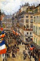 JULY FOURTEENTH RUE DAUNOU 1910 FLAGS PARIS CELEBRATIONS IMPRESSIONISM P... - £50.42 GBP