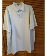 Peter Millar Golf shirt men's size XXL blue stripe white short sleeve  - $29.00