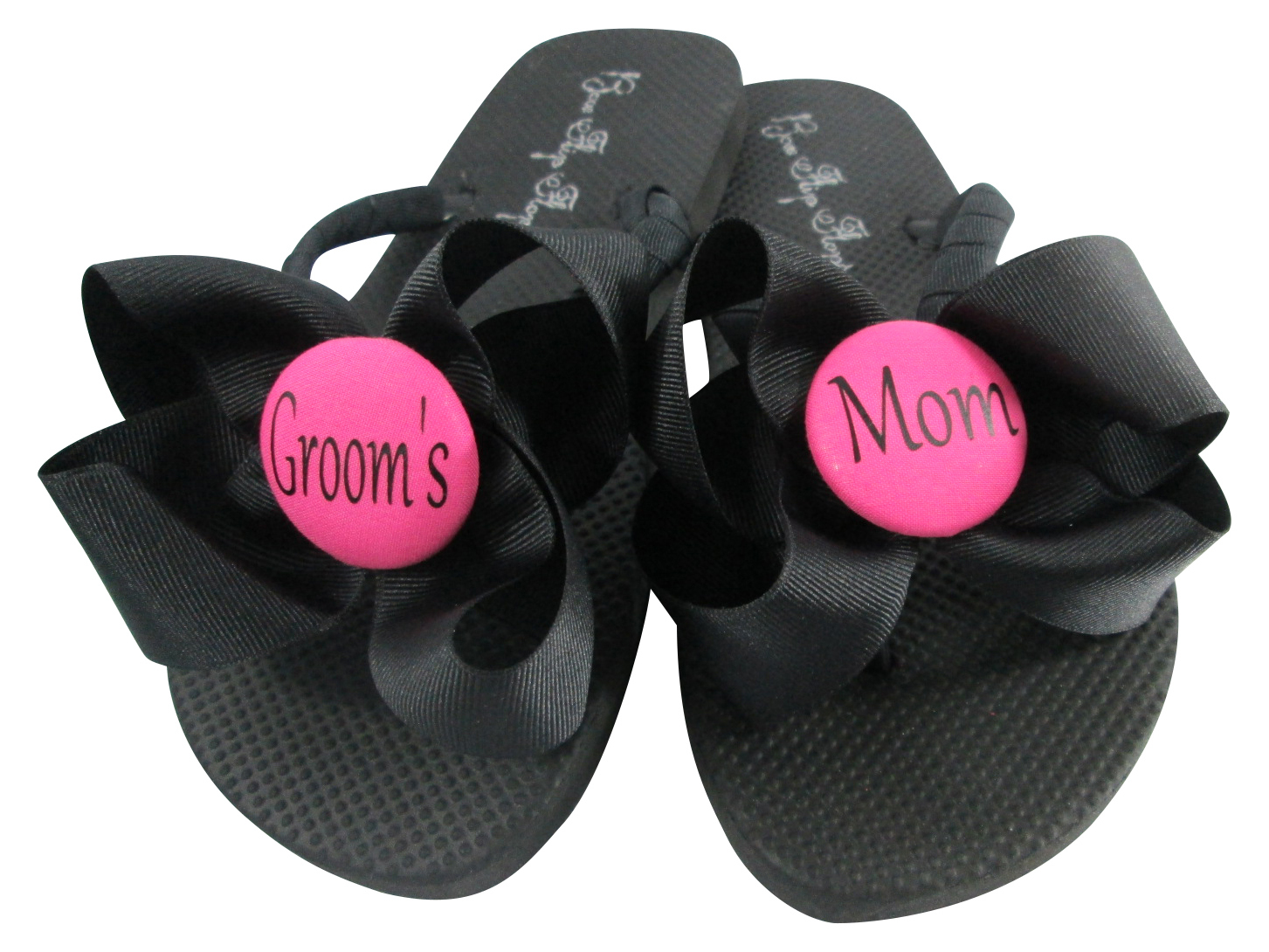 cd649f6a1 Groom or Bride s Mom Bow Flip Flops - Hot and 50 similar items