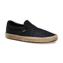 Vans U Classic Slip-On Espadrille (Mesh) Black VN0004KS7LM - $54.99
