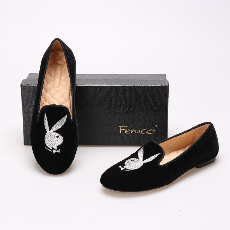 3890ae9a27e FERUCCI Women velvet loafers with playboy and 50 similar items. Il  fullxfull.913181650 ql0i