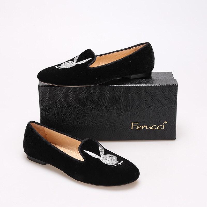 2de21e4c57d FERUCCI Women velvet loafers with playboy and 50 similar items