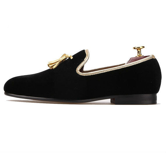 a3e10677afc8 FERUCCI black custom-made Velvet Slippers and 50 similar items