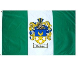 Seelinger Coat of Arms Flag / Family Crest Flag - $29.99