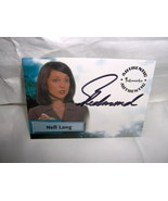 Smallville Nell Lang SIGNED Card A9 Sarah Jane Redmond - $10.99