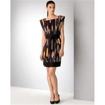 DIANE von FURSTENBERG SAMUELLA  TRAVELER PRUNE/BLACK SHEATH DRESS - US 2... - $127.57