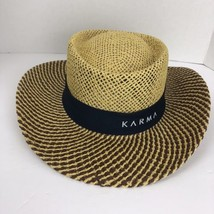 Karma Mens Gamblers Hat Panama Style Vented Toyo Straw Sun Golf - $37.61