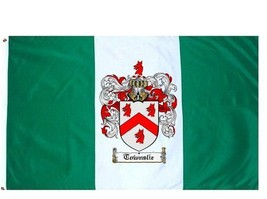 Townslie Coat of Arms Flag / Family Crest Flag - $29.99