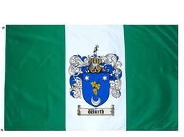 Wurth Coat of Arms Flag / Family Crest Flag - $29.99