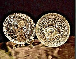 Vintage Heavy Etched Glass Candy Dish with detailed designs AA19-LD11920 image 4