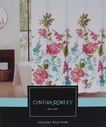 Cynthia Rowley Giacomo Wild Fiore Multi-Color Floral Shower Curtain - $37.00