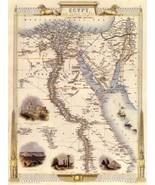 1800'S EGYPT ARAB ARABIC ARABIA ALEXANDRIA GRAND CAIRO MAP VINTAGE POSTE... - $8.72
