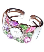 Watch Crystal Pink Green Purple Pastel Multicol... - $24.99