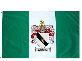 Rosenthal Coat of Arms Flag / Family Crest Flag - $29.99