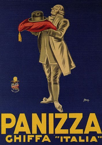 Ghiffa Italy  city pictures gallery : FASHION HAT PANIZZA GHIFFA ITALY ITALIA ITALIAN VINTAGE POSTER CANVAS ...