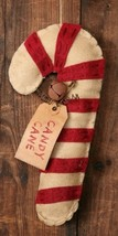 3D6101- Candy Cane Felt Ornament with jingle be... - $3.95