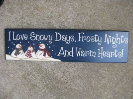 8321B-I Love Snowy Nights.... Wood Sign  - $8.95