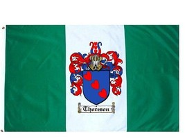 Thoreson Coat of Arms Flag / Family Crest Flag - $29.99