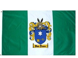 Vanloon Coat of Arms Flag / Family Crest Flag - $29.99