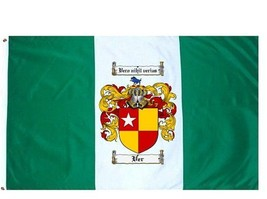 Ver Coat of Arms Flag / Family Crest Flag - $29.99