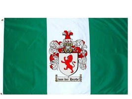 Vonderheyde Coat of Arms Flag / Family Crest Flag - $29.99