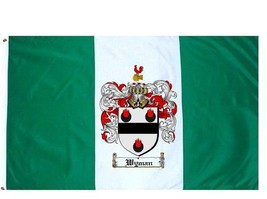 Wyman Coat of Arms Flag / Family Crest Flag - $29.99