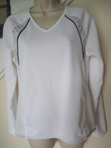 NWOT Women's C9 Champion White V-neck Tee ~ Long Raglan Sleeves ~ Active Wear  - $16.00