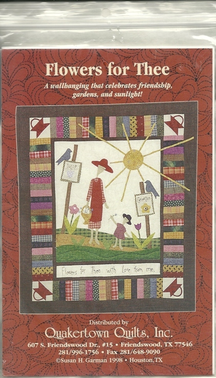 Quakertown Quilts Wallhanging Pattern Flowers for Thee 26 x 30 Kinship