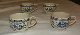 Johnson Brothers Staffordshire Hearts Flowers 4 Tea Cups Set Four Old Gr... - $34.91