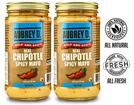 Aubrey D. Chipotle Spicy Mayo, Bold Spicy Hot Mayonnaise, Sauce for Dressing Sal
