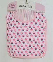Baby Ganz BG3191 OohLaLa Bib Pink Cupcake Designs 0 Plus 100 Percent Cotton image 1