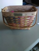 Longaberger Village 1998 - 20th Century Basket - with Plastic Protector - $9.15