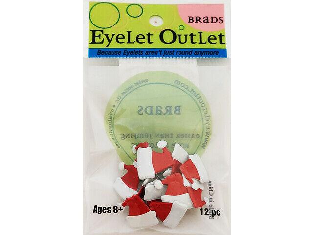 Eyelet Outlet Santa Hat Brads