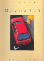 1991 Mazda 323 sales brochure catalog US 91 SE - $6.00