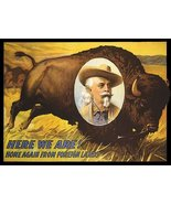 AMERICAN BUFFALO BILL HERE WE ARE HOME AGAIN FROM FOREIGN LANDS VINTAGE POSTE... - $28.91