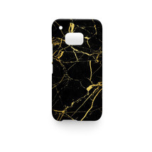 Cool Black Gold Marble Pattern HTC One M9 Hard Case Cover - $15.99