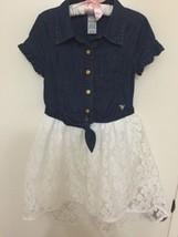Guess Girls Denim/Lace Dress Size 8 - $8.91