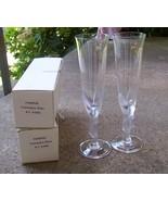 2 Crystal Champagne flutes / glasses - Igor Car... - $64.35