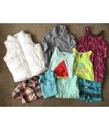 9 PC Lot Girls OLD NAVY & BILLABONG Clothes Sizes 8 M • Puffer Vest Moto... - $17.77