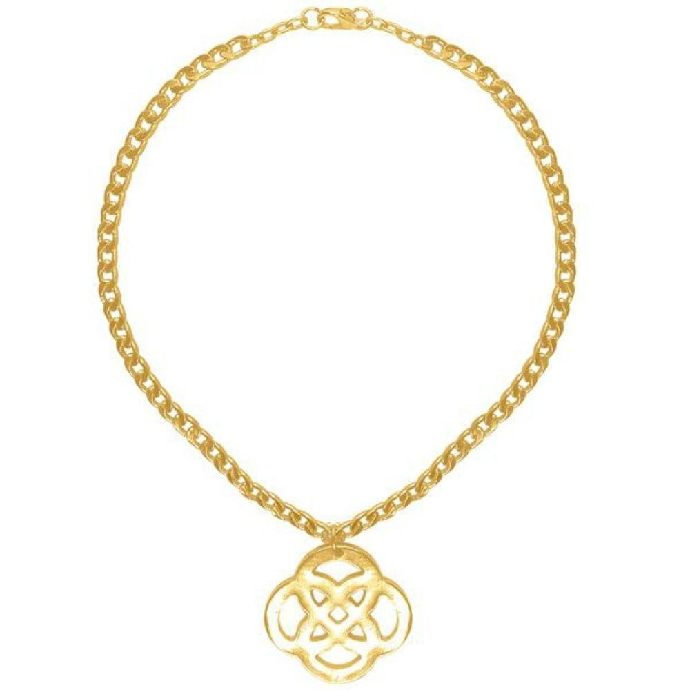 """Karine Sultan Doriane Infinity Statement Necklace Gold or Silver From France 16"""" - $79.95"""