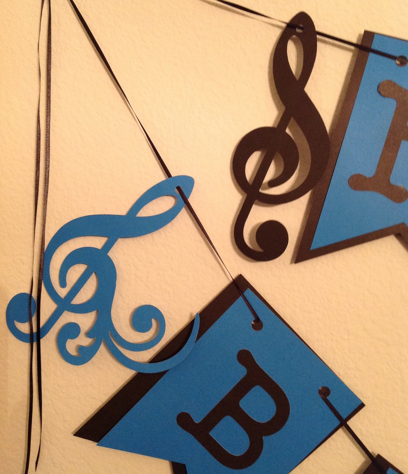 Happy Birthday Musical Notes Banner