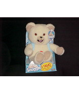 Talking Snuggle Fabric Softner Plush Bear In Box With Tags & Back Pack 2000 - $233.74