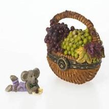"Boyds Treasure Box ""Concorde's Grape Basket W/ Frenchie McNibble""  #4026247- NIB - $29.99"