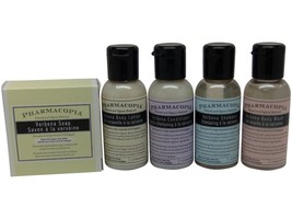 Pharmacopia Verbena Travel Set Shampoo Conditioner Lotion Body Wash & Soap - $15.00