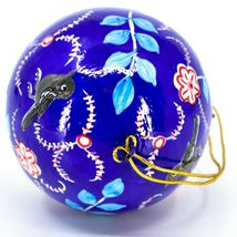 Asha Handicrafts Hand Painted Papier-Mâché Birds Holiday Christmas Ornament  image 5