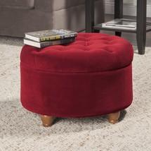 Game Storage Ottoman Round Footstools Kids Red Under Desk Window Seat St... - €106,85 EUR