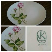 """Knowles Tea Rose 10"""" x 12 5/8"""" Platter -Very Nice - $13.72"""