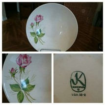 Knowles Tea Rose Vegetable Bowl -Very Nice - $11.76
